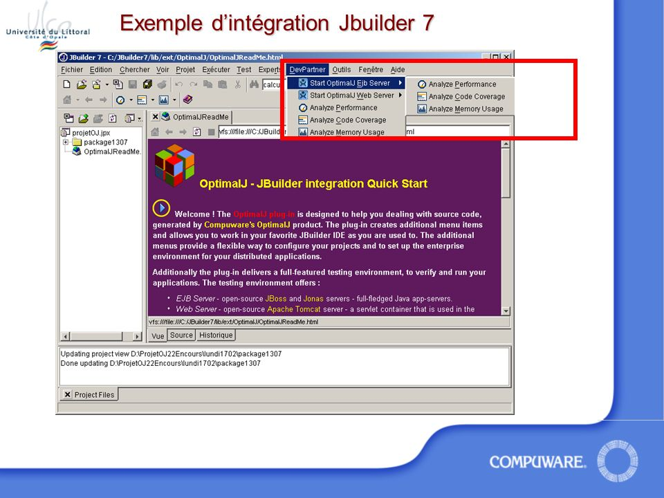 Exemple dintégration Jbuilder 7