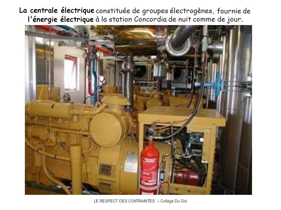 La centrale électrique constituée de groupes électrogènes, fournie de l'énergie électrique à la station Concordia de nuit comme de jour.