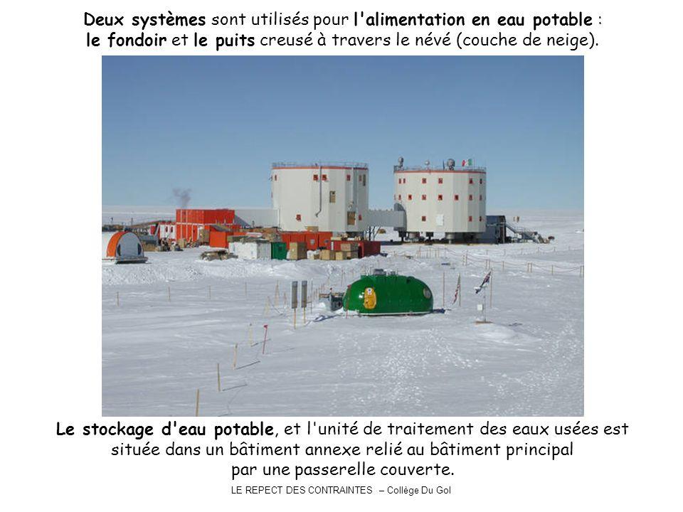 LE REPECT DES CONTRAINTES – Collège Du Gol Deux systèmes sont utilisés pour l'alimentation en eau potable : le fondoir et le puits creusé à travers le