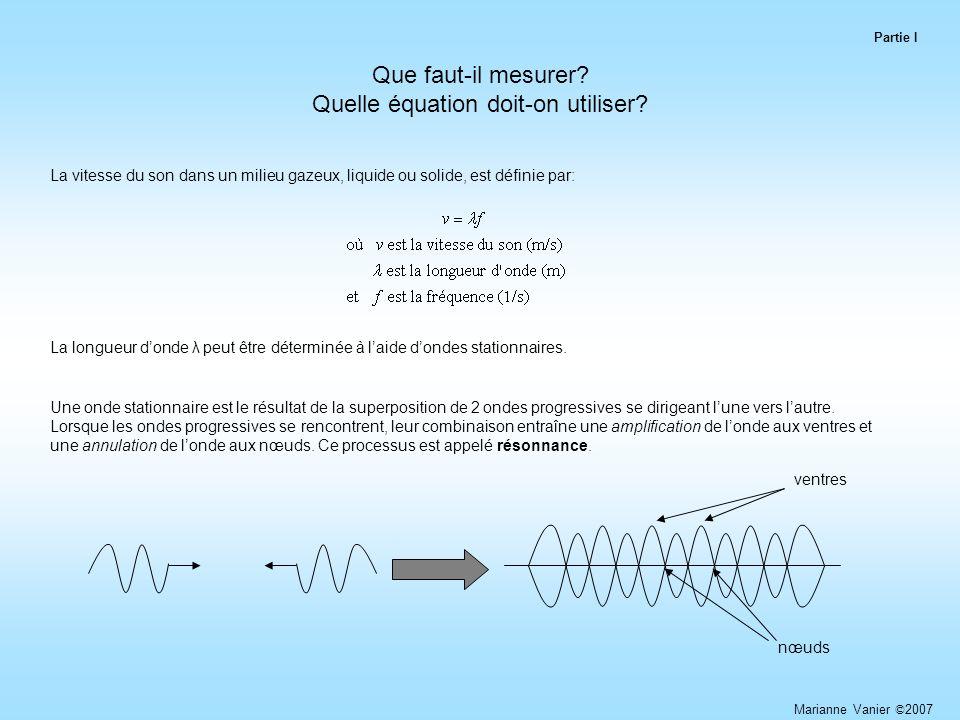Que faut-il mesurer.Quelle équation doit-on utiliser.