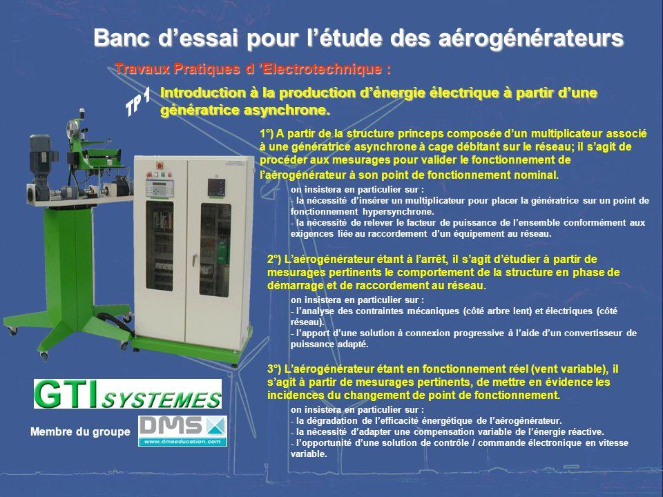 SÉMINAIRE NATIONAL – LYCÉE RASPAIL – 29 et 30 MAI 2006 8 Banc dessai pour létude des aérogénérateurs Banc dessai pour létude des aérogénérateurs Intro