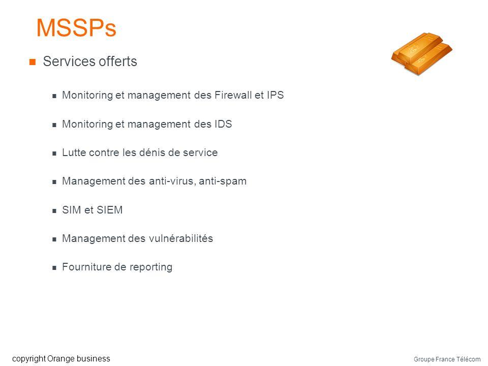Groupe France Télécom copyright Orange business Les MSSPs