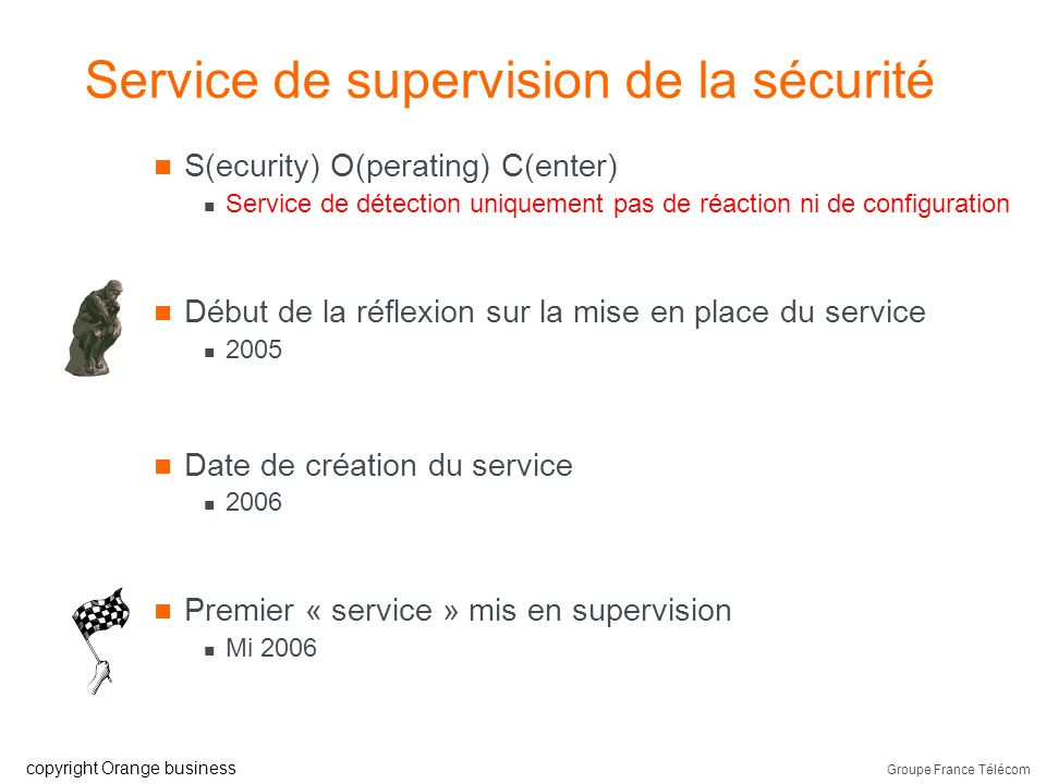 Groupe France Télécom copyright Orange business Le « décor »