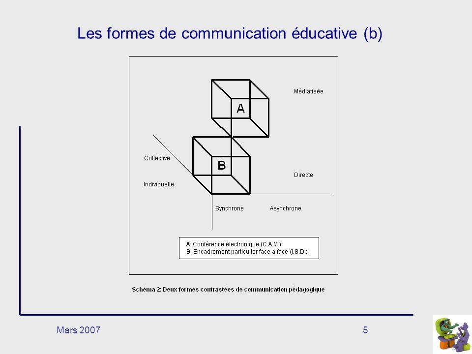 Mars 20075 Les formes de communication éducative (b)