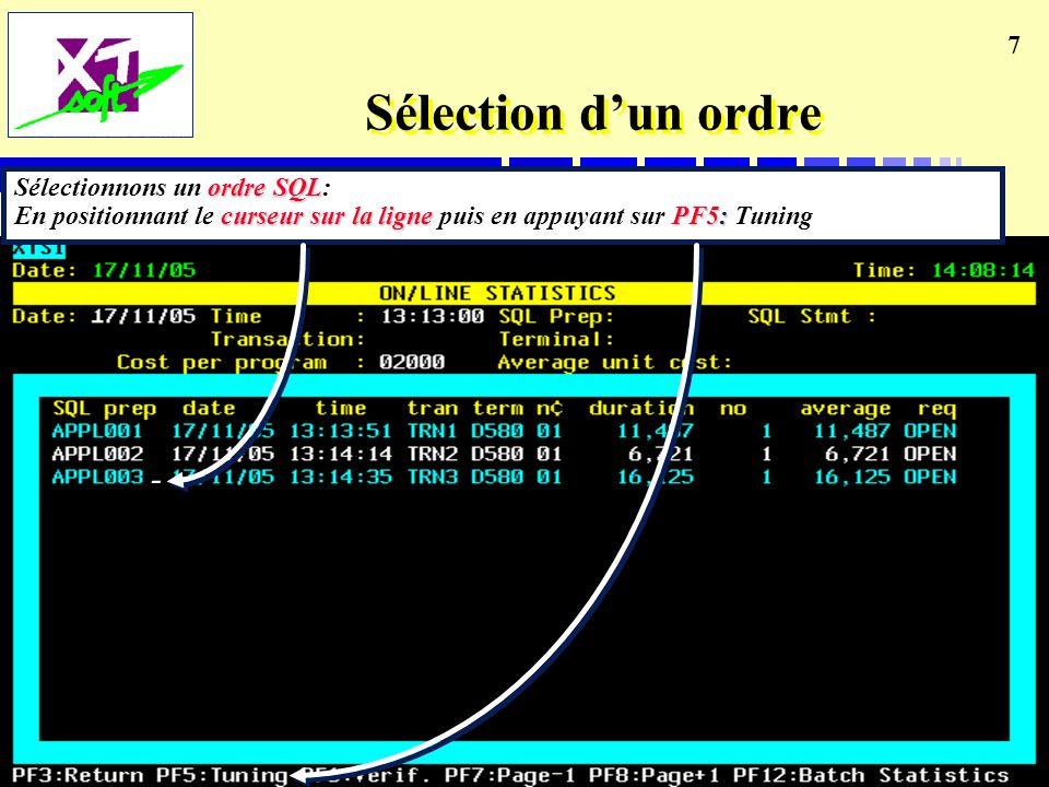 7 Sélection dun ordre -