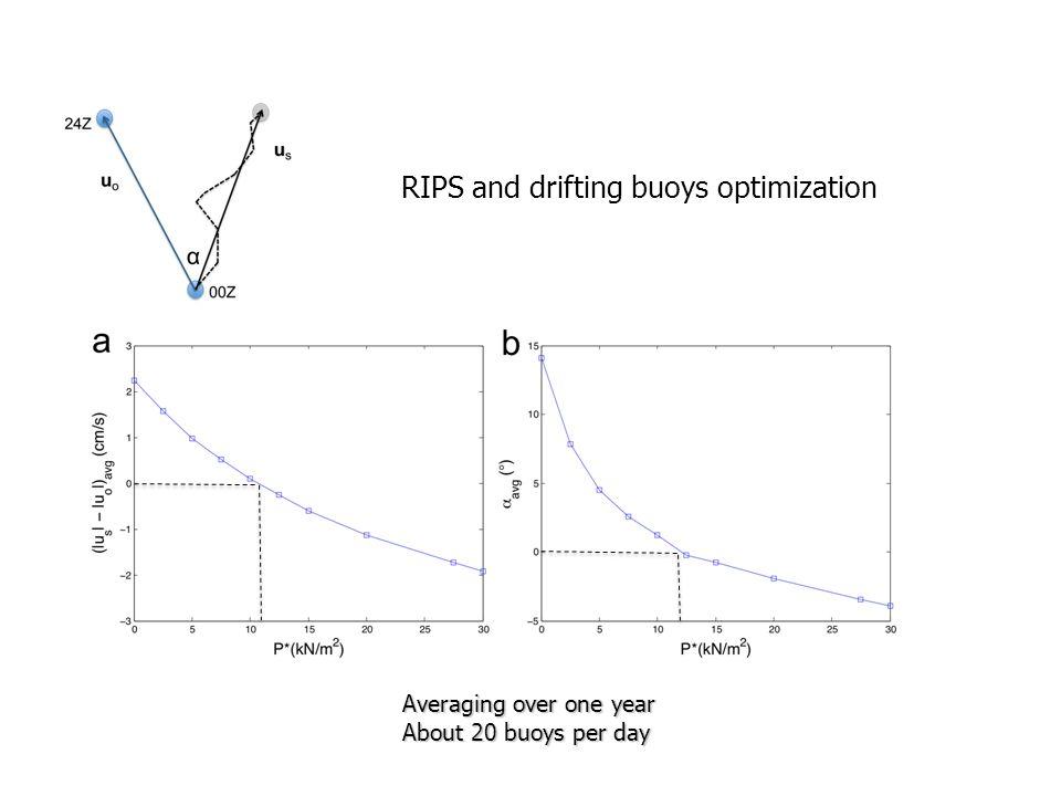 RIPS and drifting buoys optimization