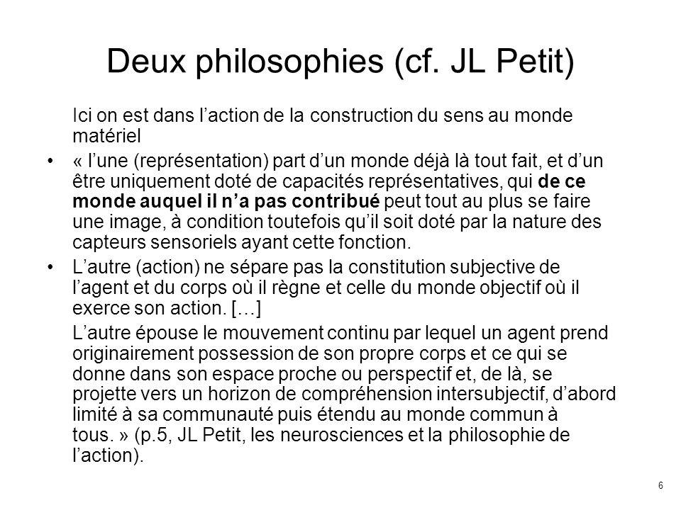 6 Deux philosophies (cf.