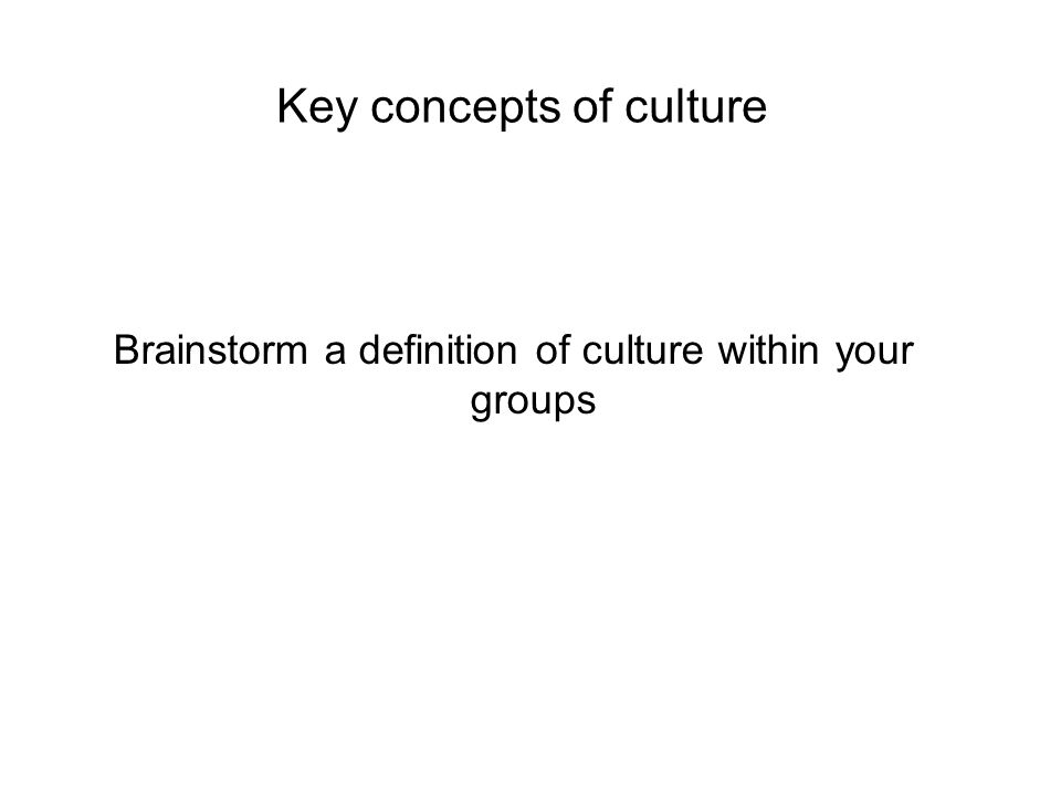 Change requires a change in culture: culture is at the heart of change