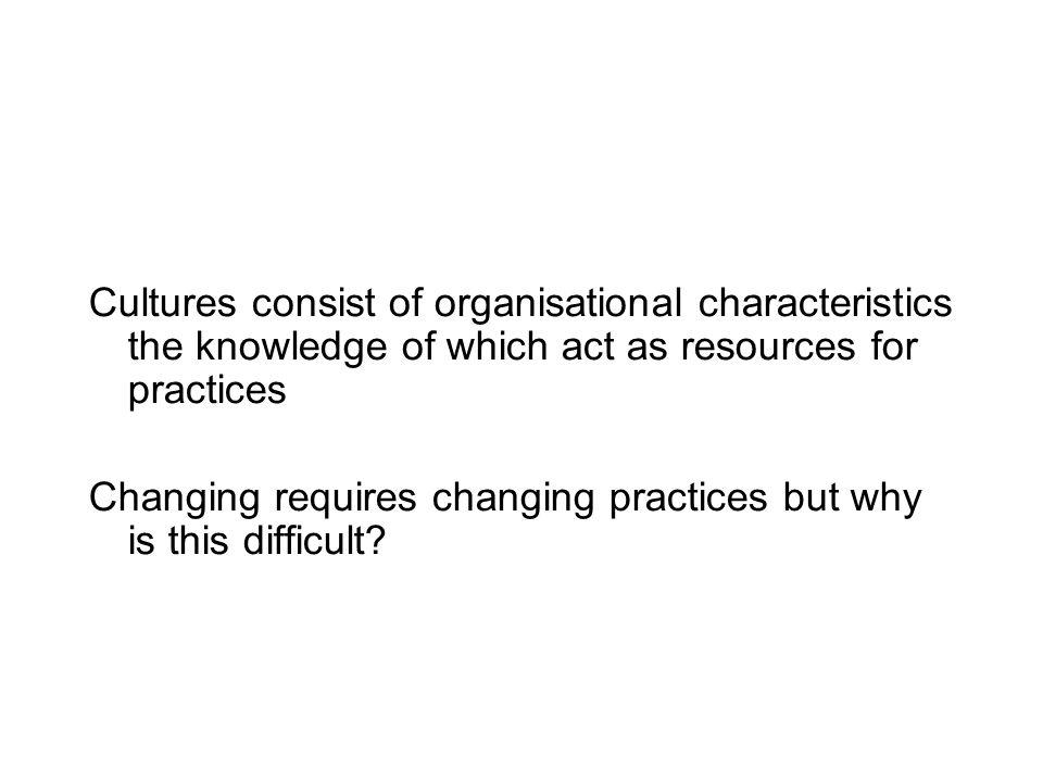 Depicting change in an organisation: knowledge, culture and practice Geertz and culture: «Le concept de culture, je épouser est essentiellement une sé