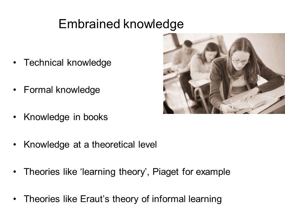 Décrivant les caractéristiques organisationnelles que les connaissances culturelles: la base de practiceâ Blackler (1995) Knowledge, Knowledge Work an