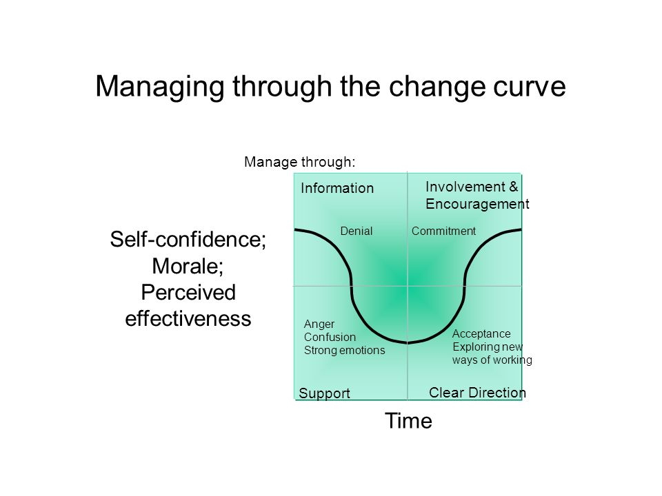 Diagnostic tool for the change curve Phase Human RelationsCommunicationsLeadershipProblem Handling Planning and Goal Setting ShockFragmentedRandomPara