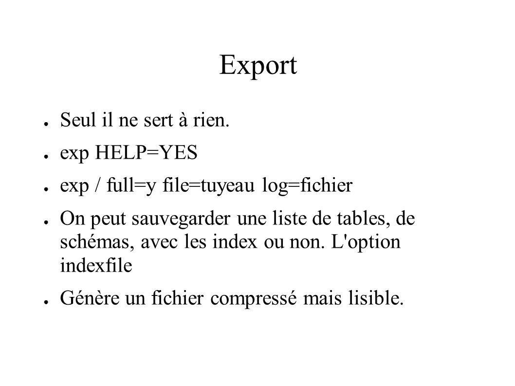 Export Seul il ne sert à rien.