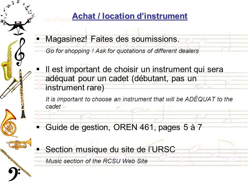 Achat / location dinstrument Magasinez.Faites des soumissions.