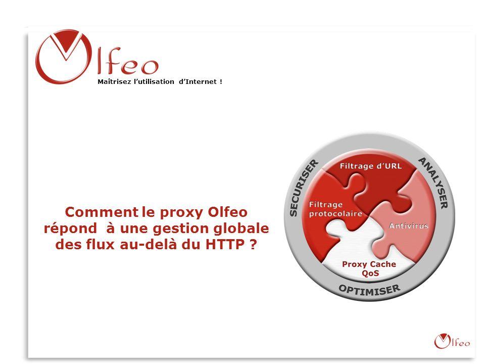 Olfeo : Maîtriser lutilisation dInternet ! www.olfeo.com Olfeo : Maîtriser lutilisation dInternet ! Comment le proxy Olfeo répond à une gestion global