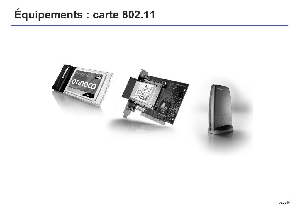 page 94 Équipements : carte 802.11