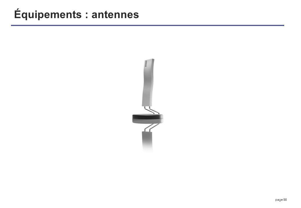 page 98 Équipements : antennes