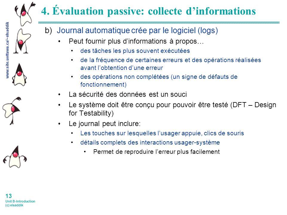 www.site.uottawa.ca/~elsaddik 13 Unit B-Introduction (c) elsaddik 4.
