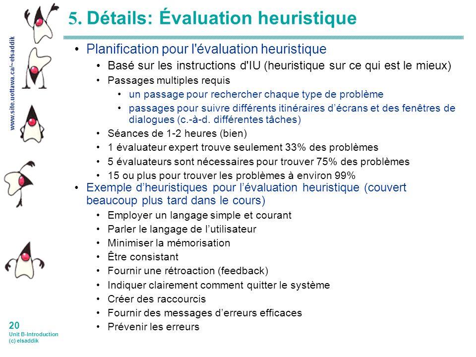 www.site.uottawa.ca/~elsaddik 20 Unit B-Introduction (c) elsaddik 5.