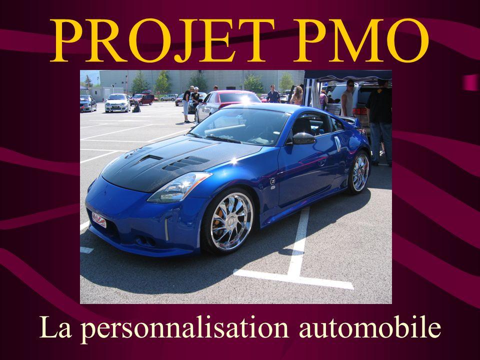 PROJET PMO La personnalisation automobile