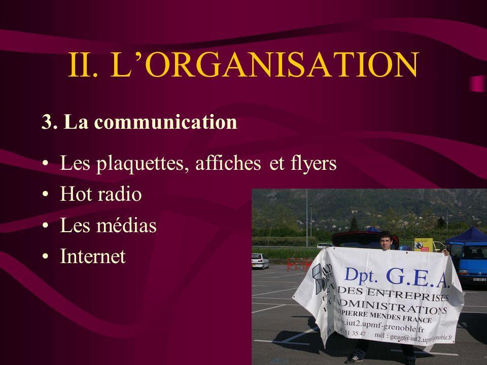 II. LORGANISATION 3.