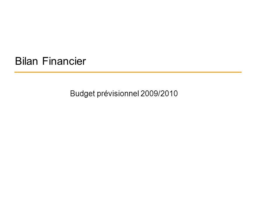 Bilan Financier Budget prévisionnel 2009/2010