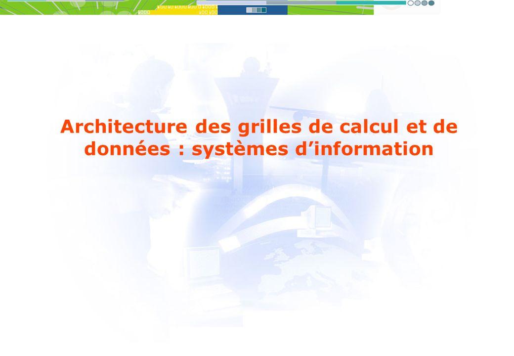 Architecture des grilles de calcul et de données : systèmes dinformation