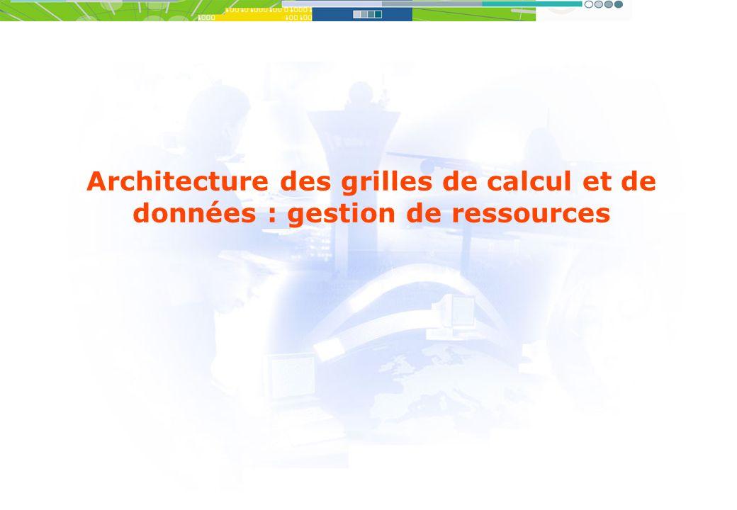 Architecture des grilles de calcul et de données : gestion de ressources