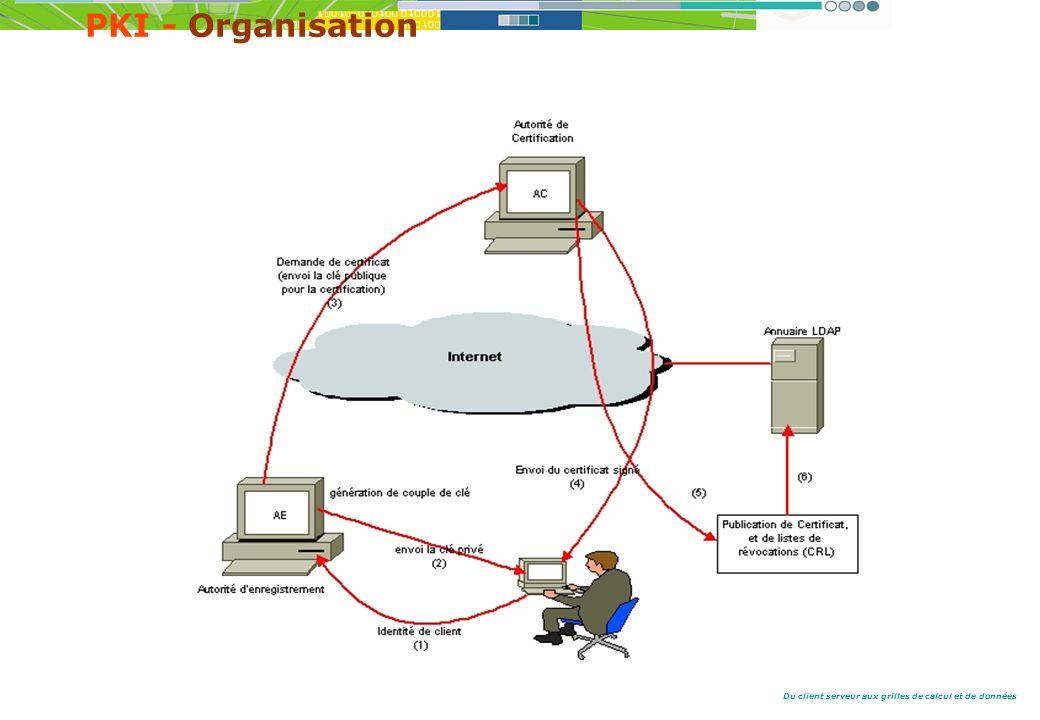 Du client serveur aux grilles de calcul et de données PKI - Organisation