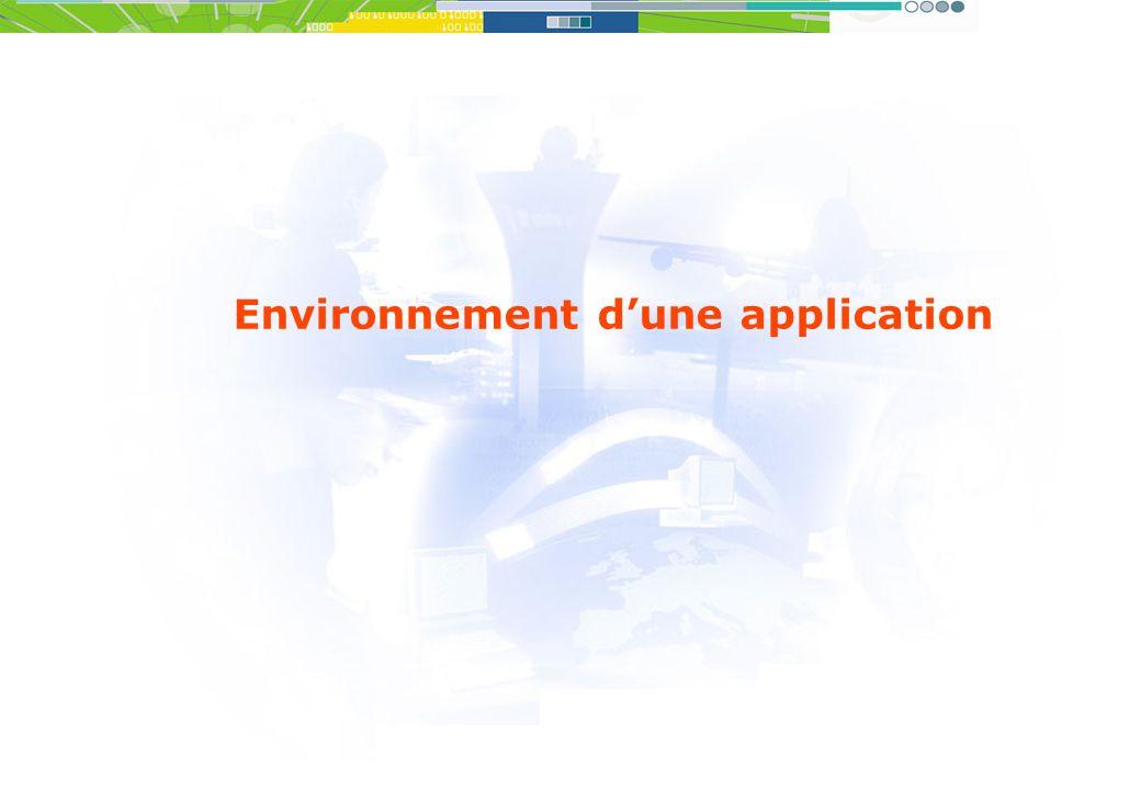 Environnement dune application
