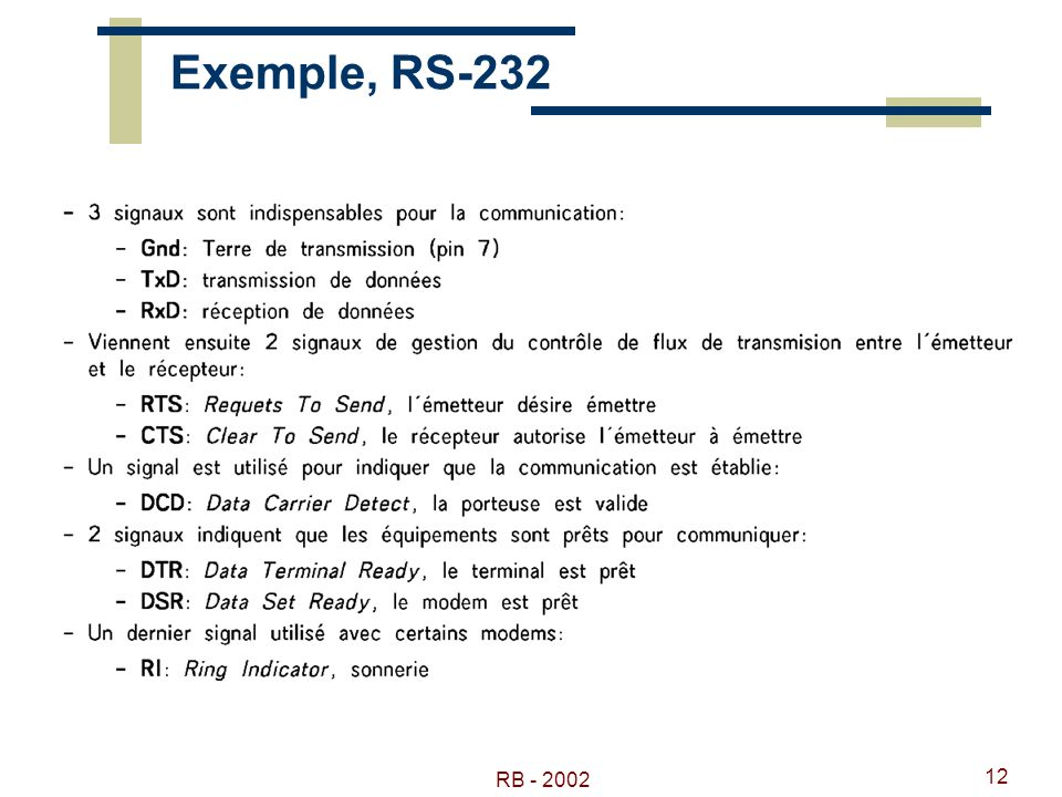 RB - 2002 12 Exemple, RS-232