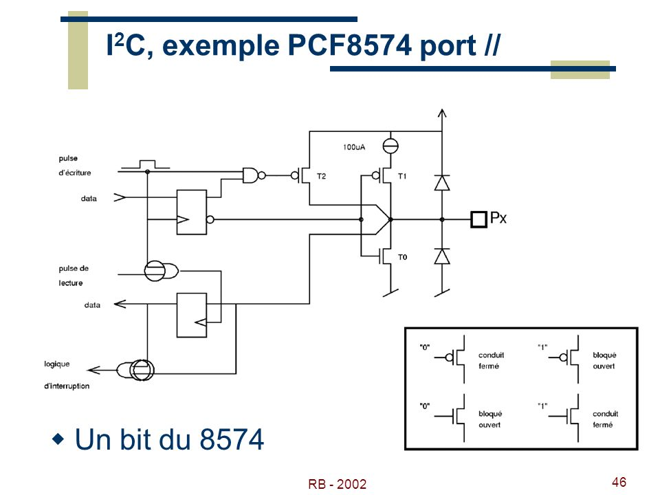 RB - 2002 46 I 2 C, exemple PCF8574 port // Un bit du 8574