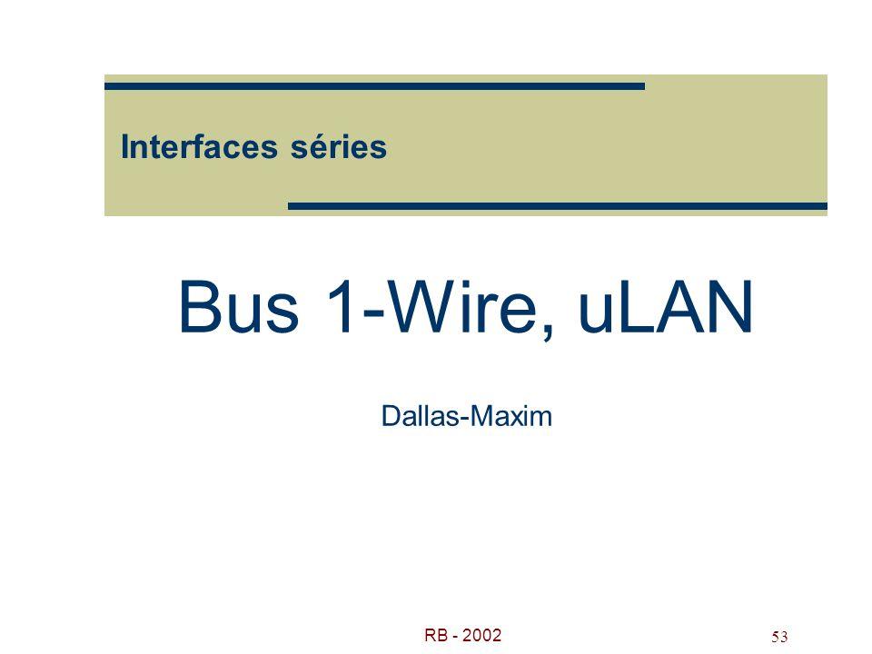 RB - 2002 53 Interfaces séries Bus 1-Wire, uLAN Dallas-Maxim