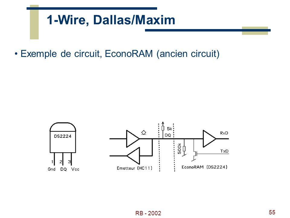 RB - 2002 55 1-Wire, Dallas/Maxim Exemple de circuit, EconoRAM (ancien circuit)