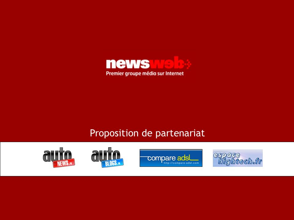 p.1 1 Proposition de partenariat
