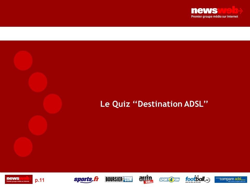 p.11 11 Le Quiz Destination ADSL
