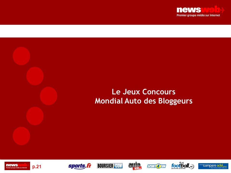 p.21 21 Le Jeux Concours Mondial Auto des Bloggeurs