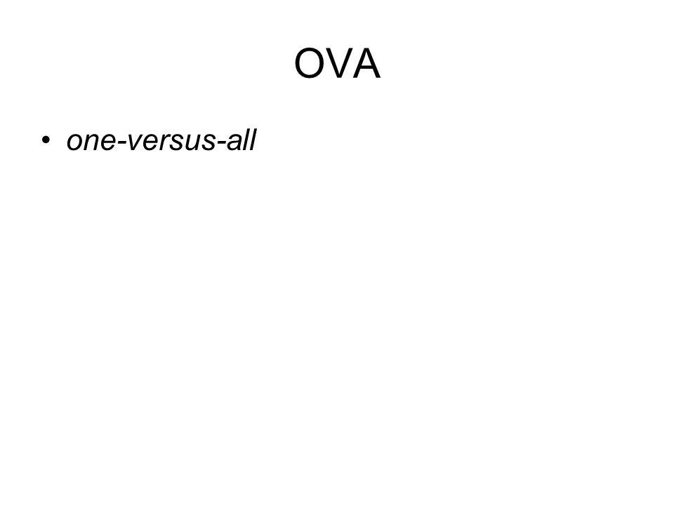 OVA one-versus-all