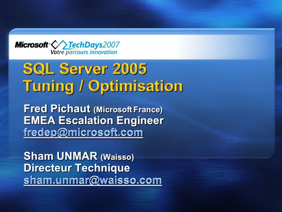 Le support (CSS) Waisso - SQL Server sur le terrain Quelques bases Méthodologie Performance des requêtes Concurrence daccès Problématiques autour de Tempdb Quelques outils Ressources Débats et échanges