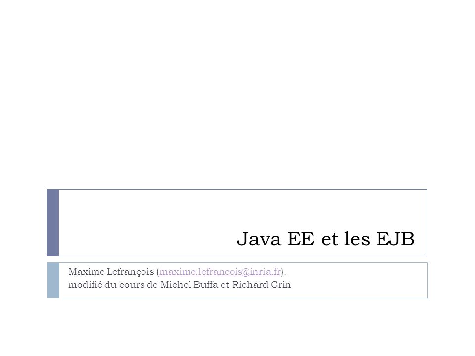 Introduction à Java EE 2