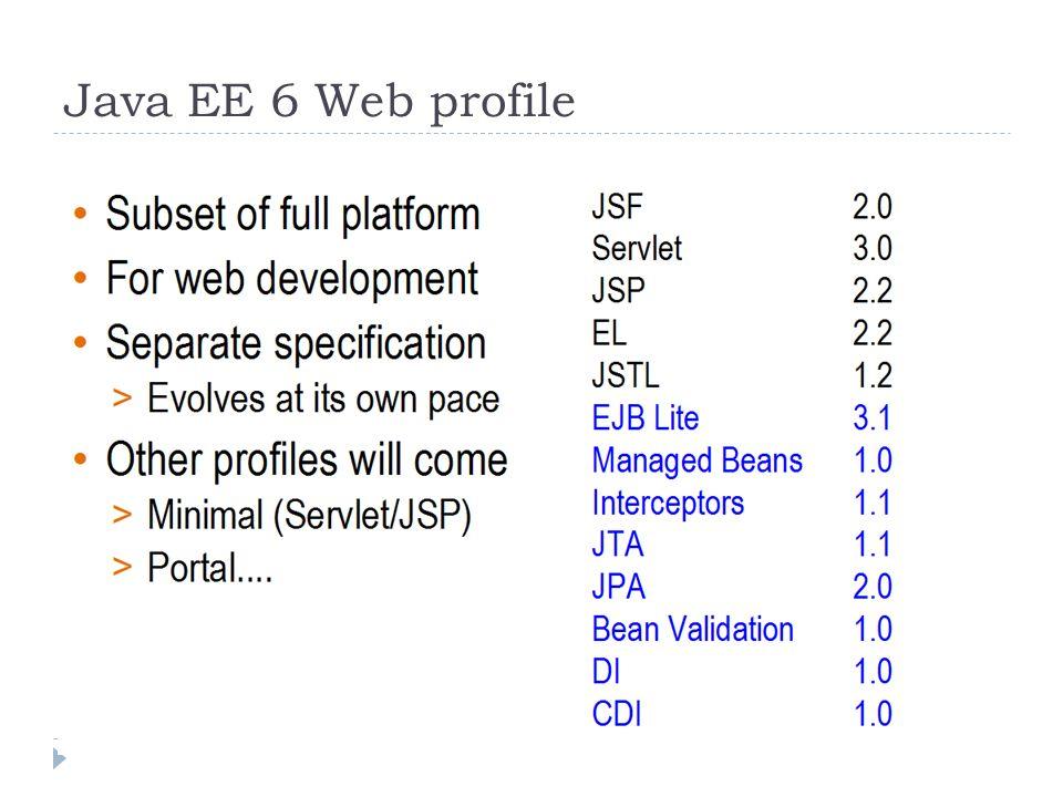 Java EE 6 Web profile