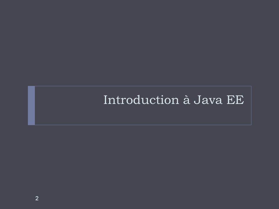 Introduction à Java EE 2
