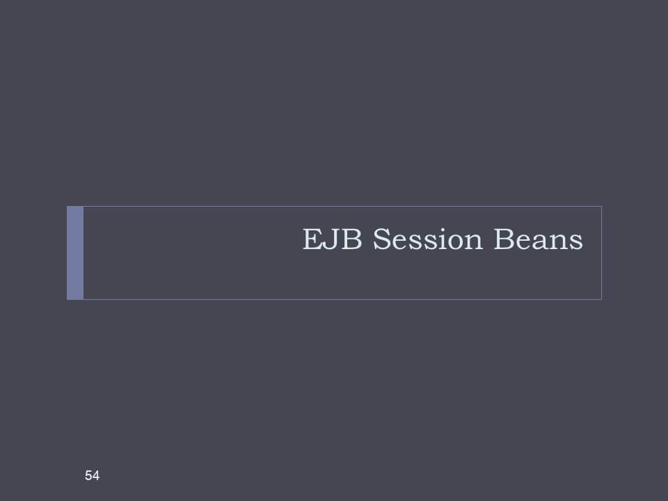 EJB Session Beans 54