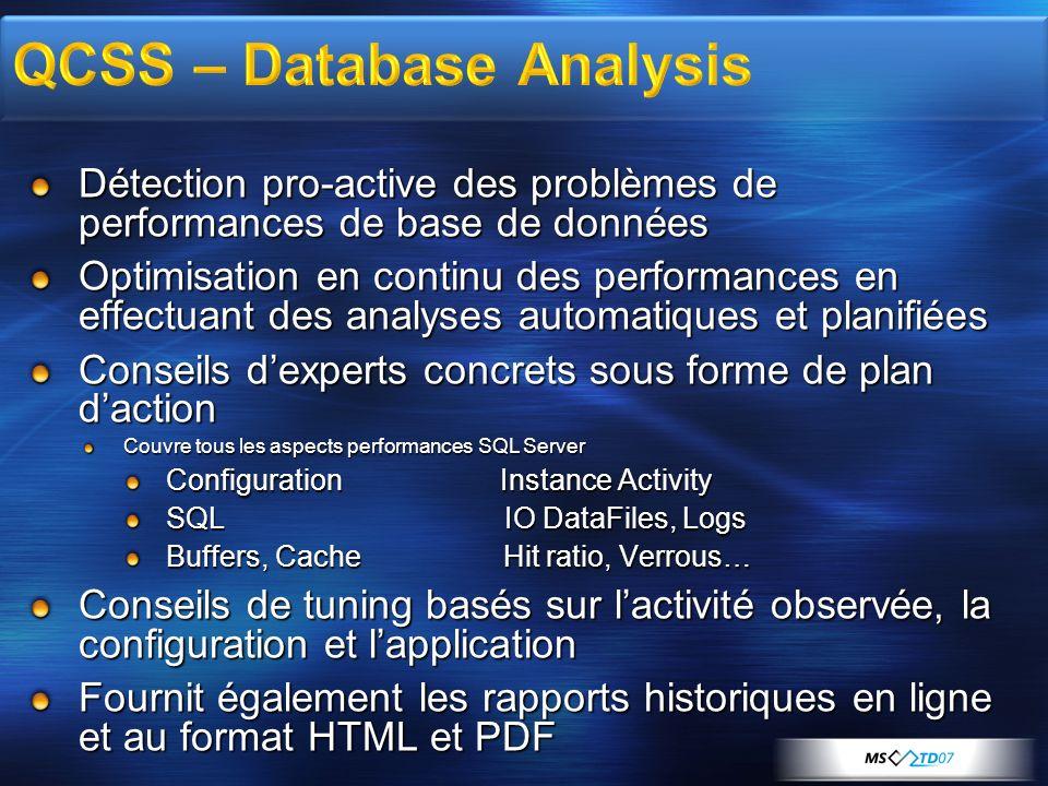 Détection pro-active des problèmes de performances de base de données Optimisation en continu des performances en effectuant des analyses automatiques