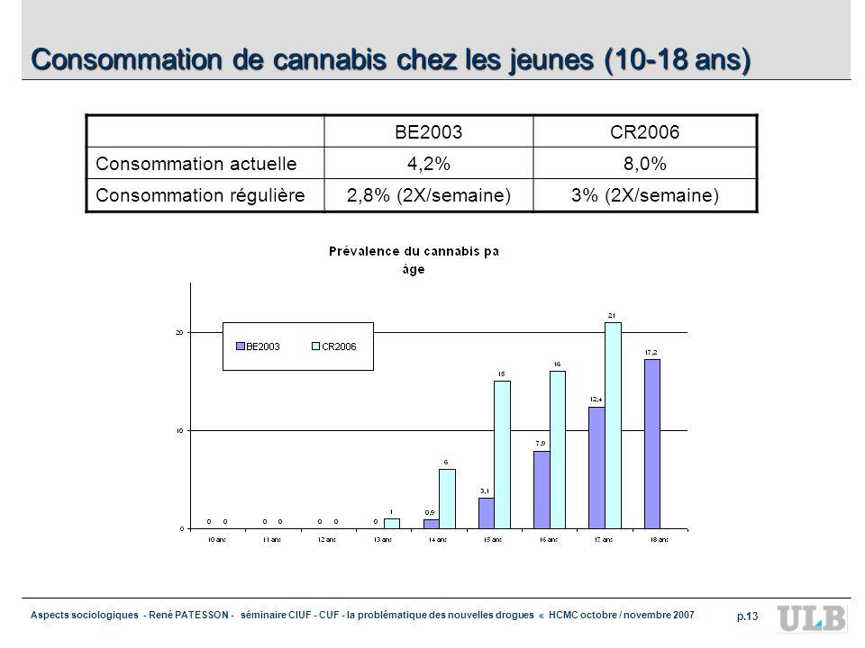 Aspects sociologiques - René PATESSON - séminaire CIUF - CUF - la problématique des nouvelles drogues « HCMC octobre / novembre 2007 p.13 Consommation