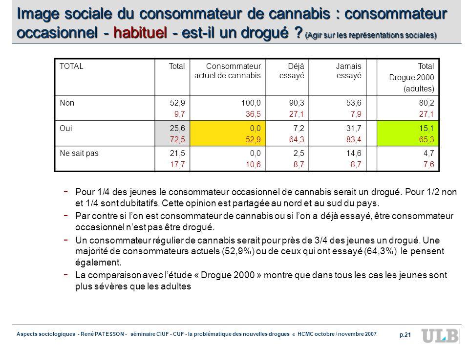 Aspects sociologiques - René PATESSON - séminaire CIUF - CUF - la problématique des nouvelles drogues « HCMC octobre / novembre 2007 p.21 Image social
