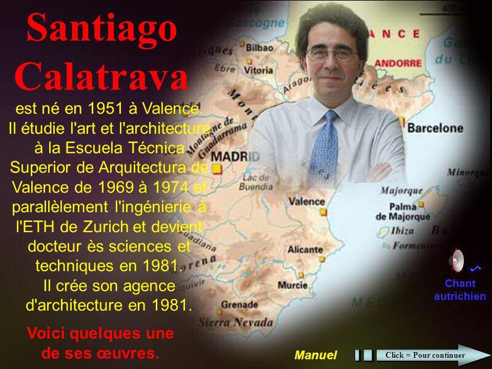 Santiago Calatrava Voici quelques une de ses œuvres.