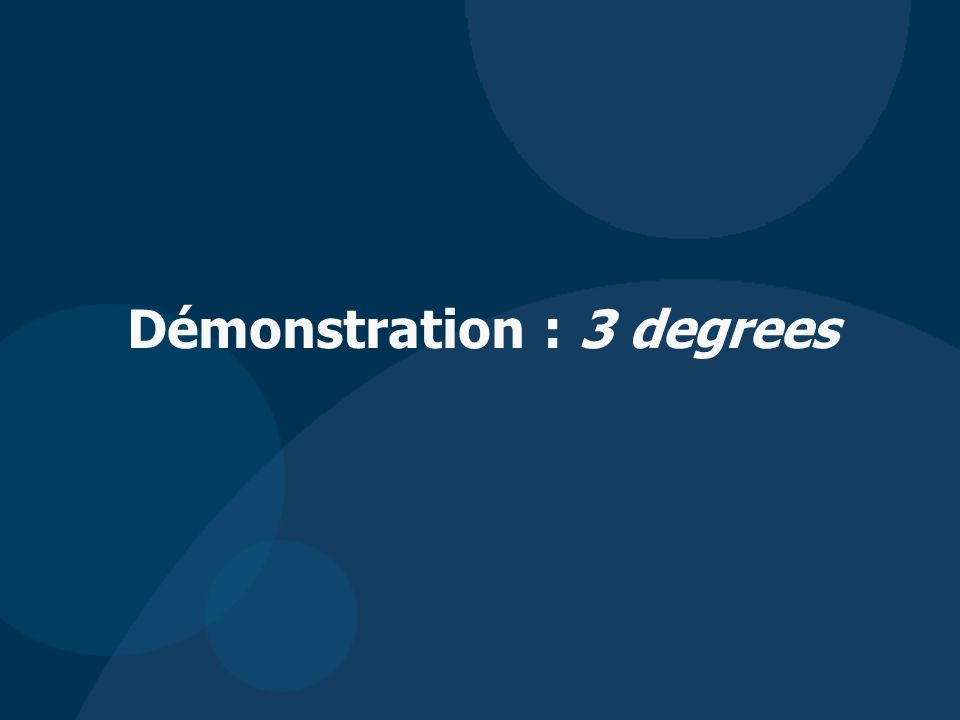 Démonstration : 3 degrees