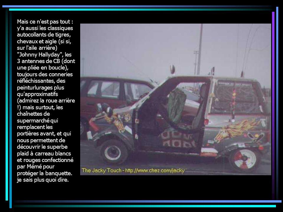 Mais ce n'est pas tout : y'a aussi les classiques autocollants de tigres, chevaux et aigle (si si, sur l'aile arrière)