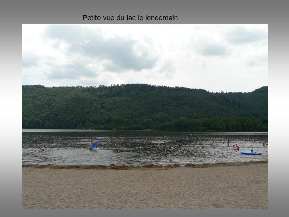 Petite vue du lac le lendemain