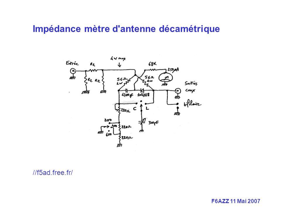 F6AZZ 11 Mai 2007 Impédance mètre d antenne décamétrique //f5ad.free.fr/ ://f5ad.free.fr/